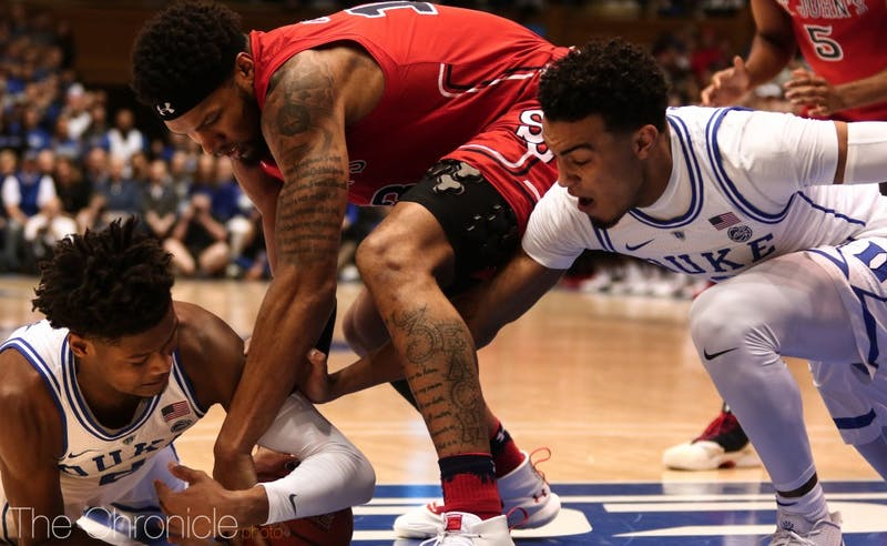 Tre Jones' stifling defense kept Shamorie Ponds silent in the game's first 20 minutes and help spark a huge Duke run.