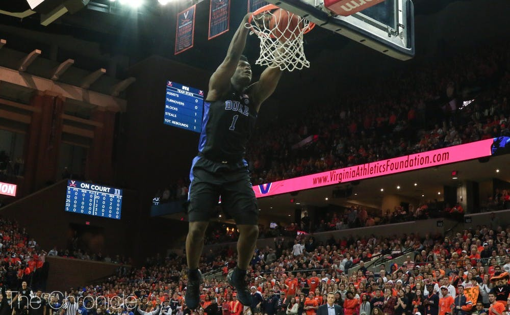 <p>Zion Williamson and his fellow forward counterparts can take advantage of the smaller Louisville squad in their matchup.</p>