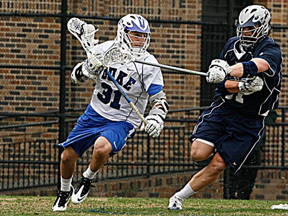 Freshman attacker Jordan Wolf had the best game of his short career at Duke, tallying seven points with four goals.