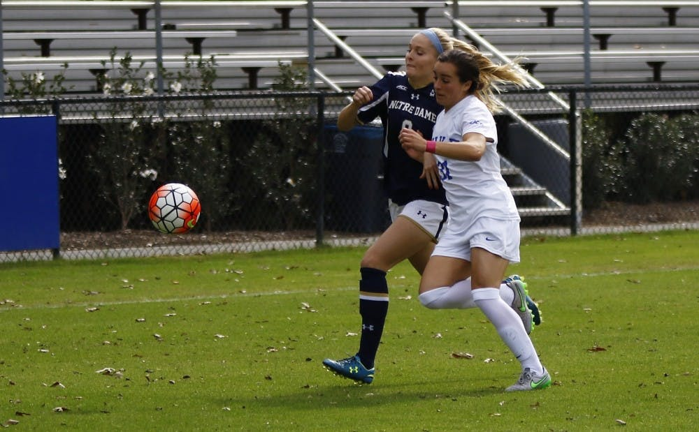 <p>Junior captain Christina Gibbons and the Duke back line will have their hands full with a dangerous Stanford attack Friday night on the road against top-seeded Stanford.</p>