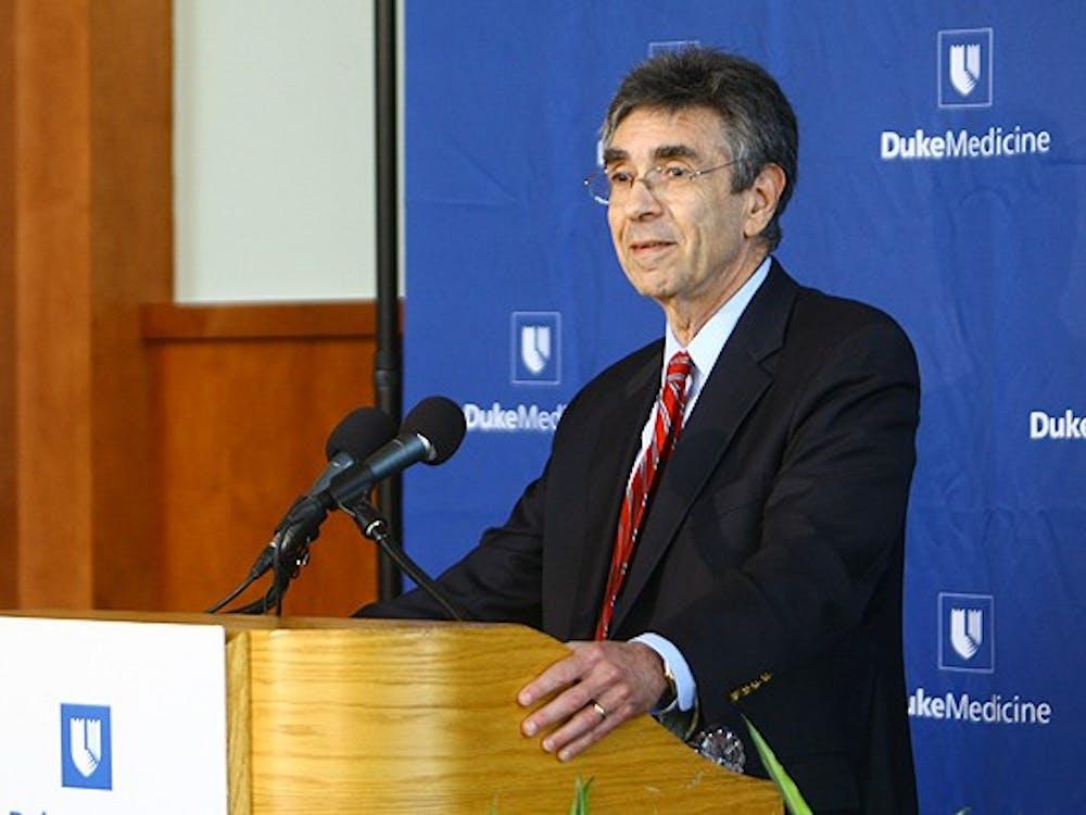 Dr. Robert Lefkowitz, James B. Duke professor of medicine, celebrates his Nobel Prize in chemistry. He received the award in October.