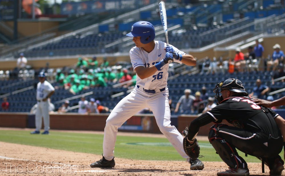 <p>Joey Loperfido had two hits in Duke's losing effort.</p>