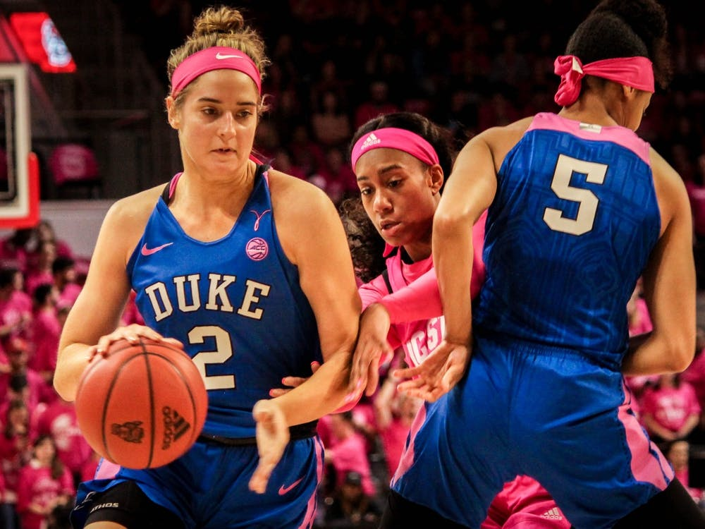<p>Haley Gorecki had a dominant final season as a Blue Devil.</p>
