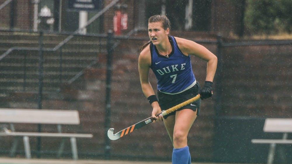 Jillian Wolgemuth helped Duke to victory in dreary weather.