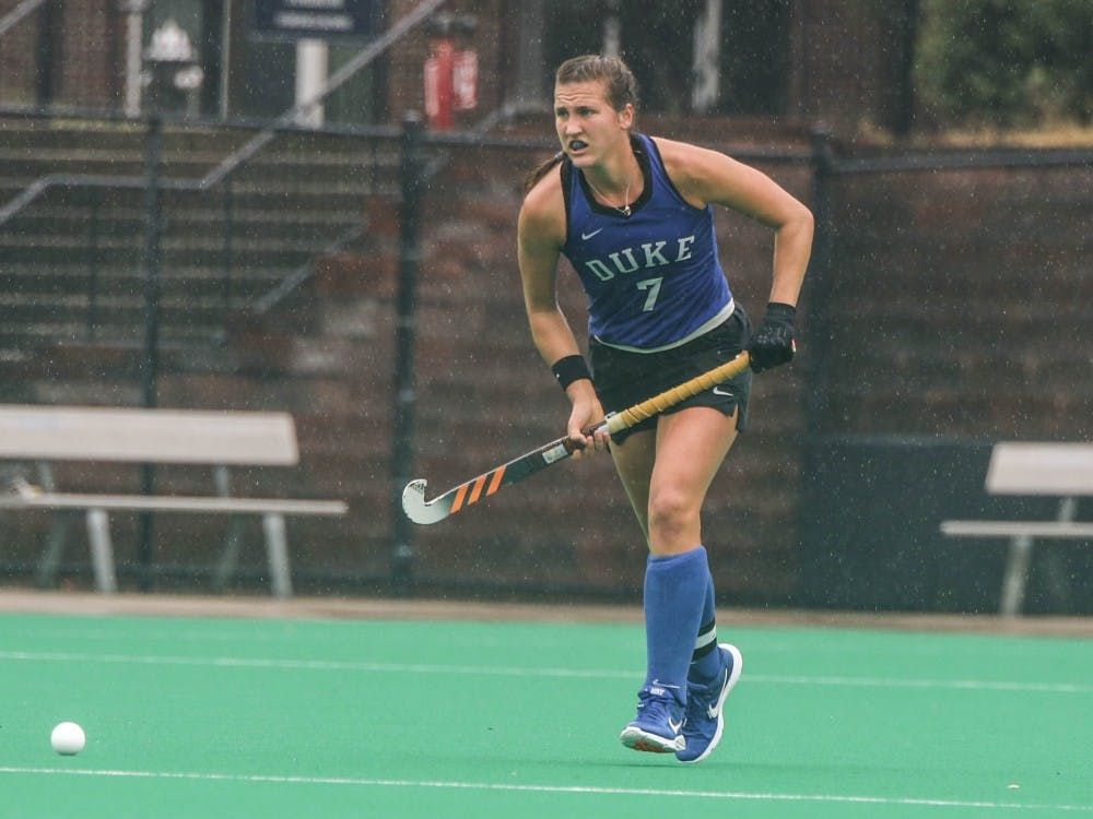 Jillian Wolgemuth helped Duke to victory in dreary weather.