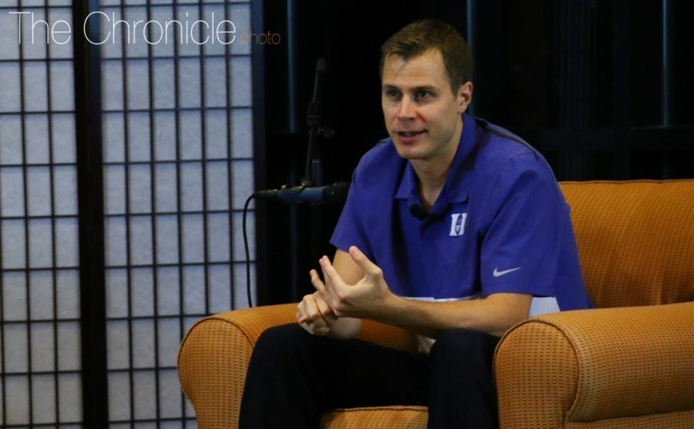 <p>Scheyer was a Blue Devil point guard from 2007-10 and has been an associate head coach for Duke since 2018.&nbsp;</p>