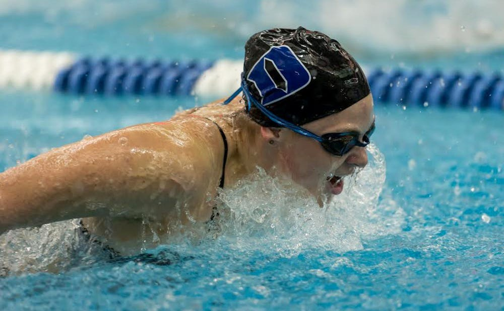 <p>Senior Kiera Molloy underwent surgery to remove her pancreas May 28, but returned to the pool just six weeks later.</p>