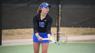 Sophomore Chloe Beck won her singles match 6-2, 6-2 against Louisville.