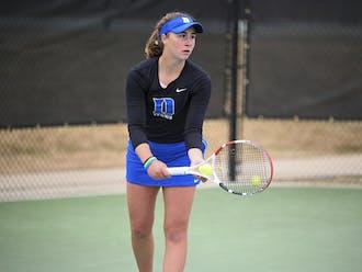 Sophomore Chloe Beck won her singles match 6-2, 6-2 against Louisville.