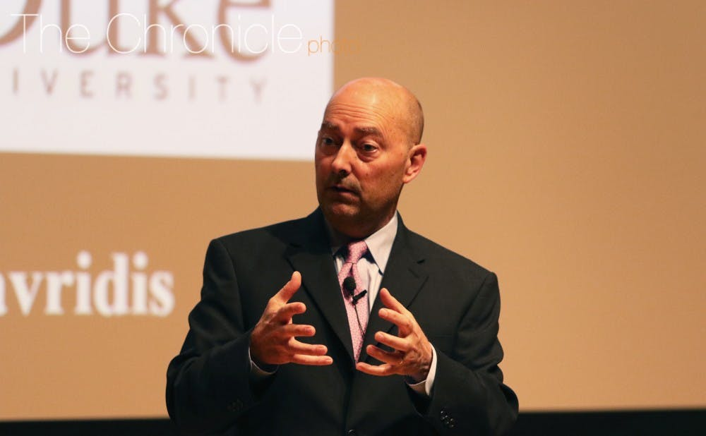 <p>Retired Admiral James Stavridis is&nbsp;the former supreme allied commander of the North Atlantic Treaty Organization.</p>
