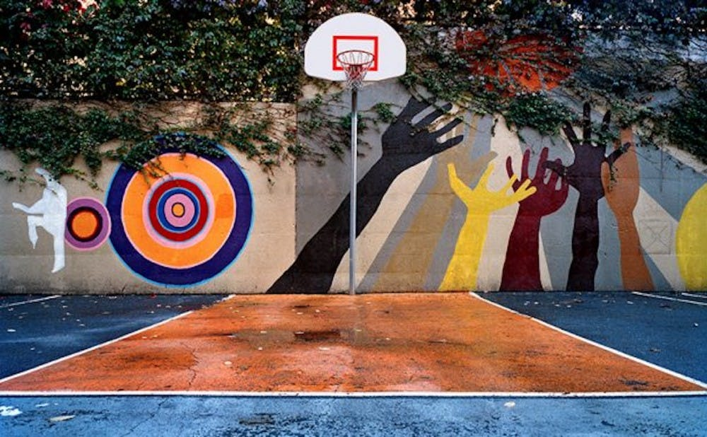 <p>Photographer and instructor Bill Bamberger takes photos of basketball hoops and courts across the globe to explore a variety of cultures.</p>