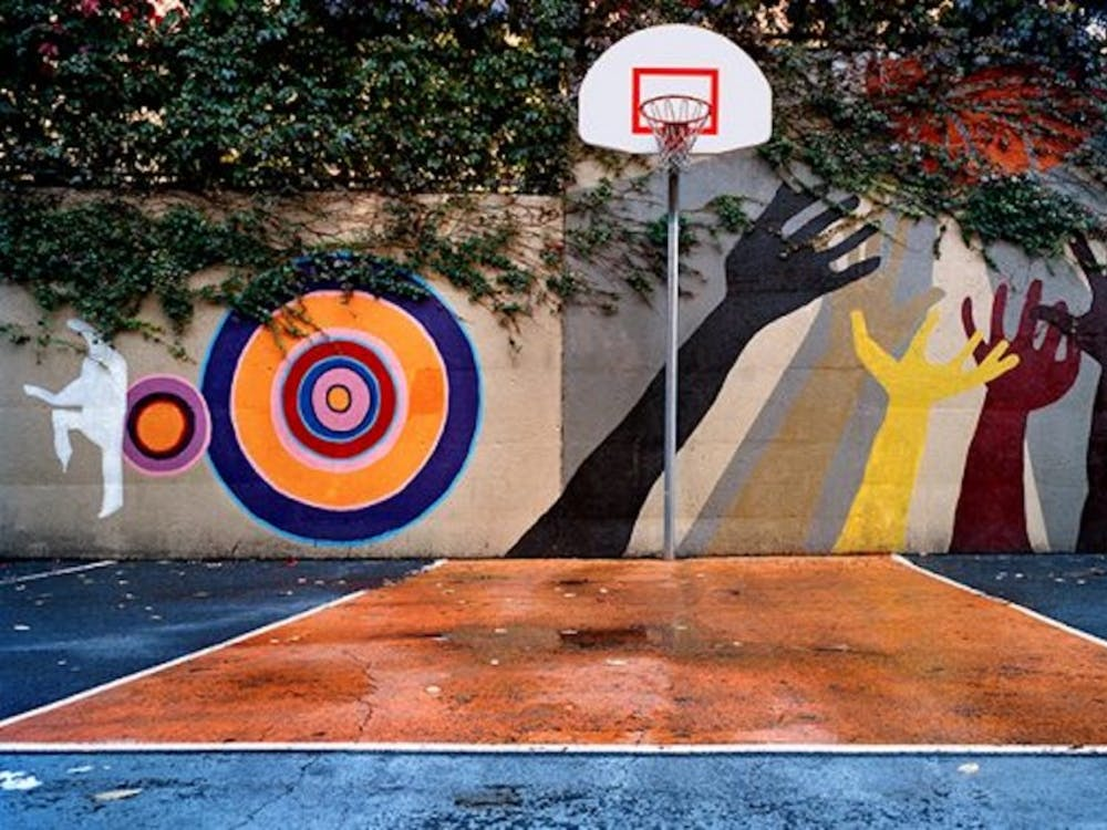Photographer and instructor Bill Bamberger takes photos of basketball hoops and courts across the globe to explore a variety of cultures.