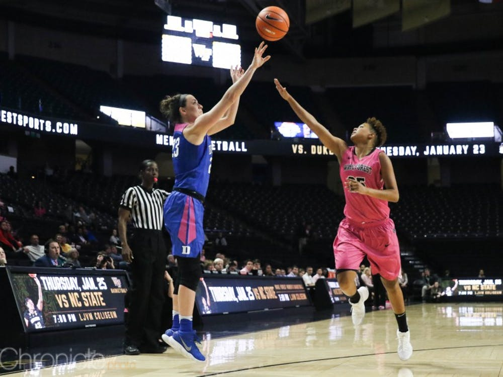 Rebecca Greenwell passed former standout Blue Devil guard Tricia Liston in the second quarter with the 253rd made 3-pointer of her career.
