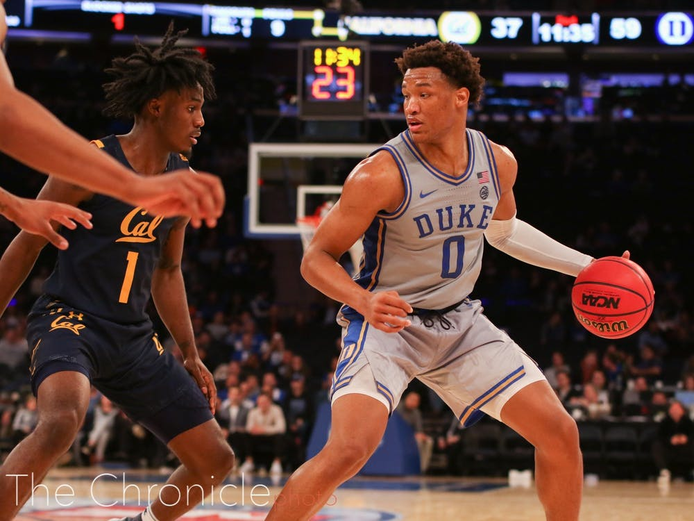 After a slow start to the year offensively, Wendell Moore Jr. had a nice breakout game against Georgetown