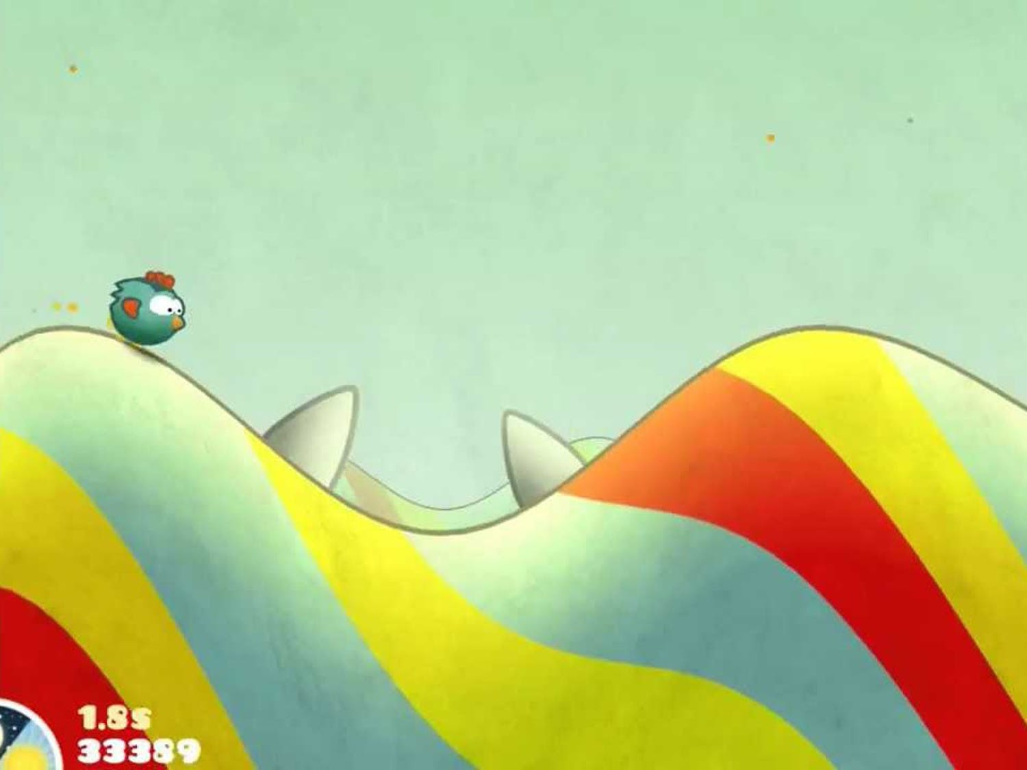 """Released in February 2011, """"Tiny Wings"""" allows the player takes control of a bird whose wings are too small to fly."""