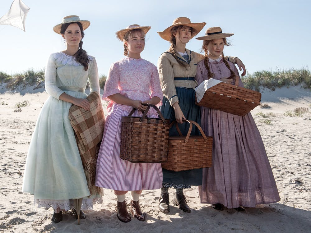 "From left: Emma Watson, Florence Pugh, Saoirse Ronan and Eliza Scanlen in ""Little Women."""