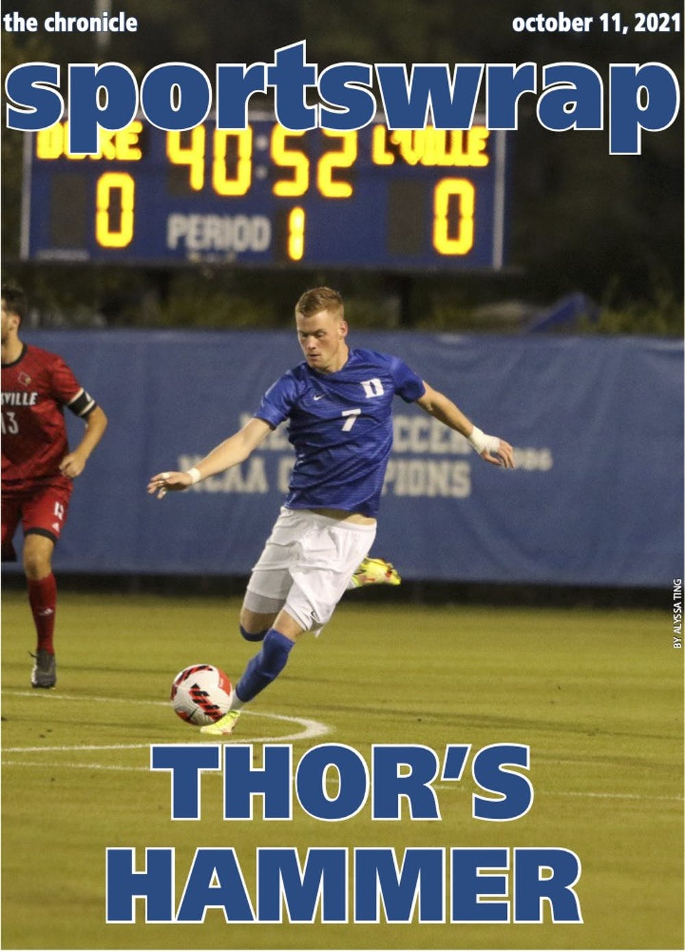 Sophomore Thorleifur Ulfarsson is leading the ACC in goals with nine.