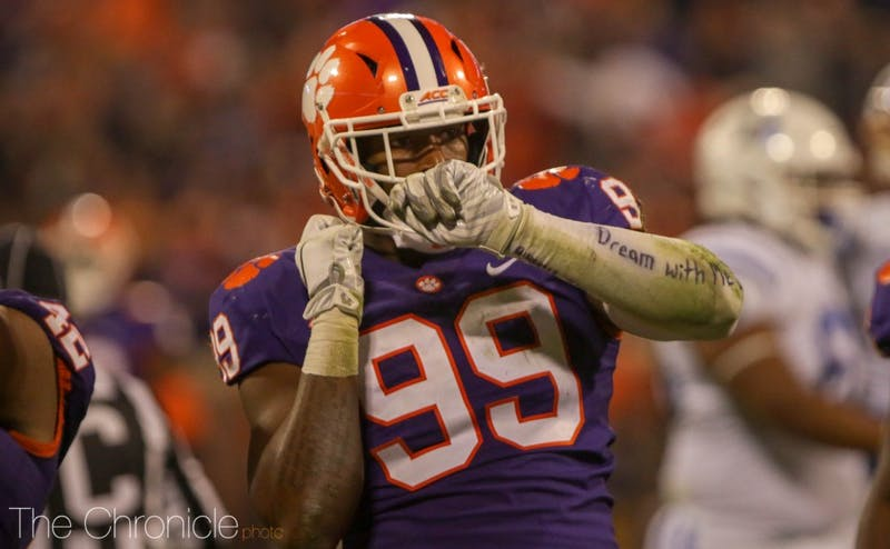 Clemson defensive end Clelin Ferrell and the rest of the talented Tiger front four had a field day against Duke's offensive line.