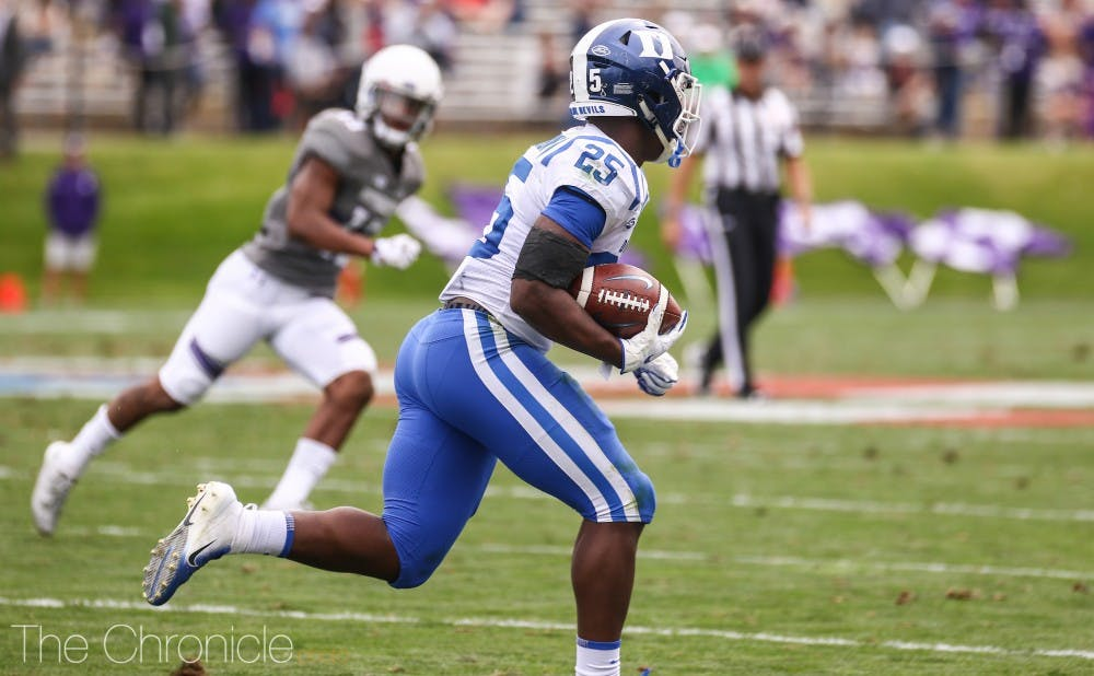 <p>Deon Jackson might be Duke's offensive workhorse against Alabama this Saturday in the team's season opener.</p>
