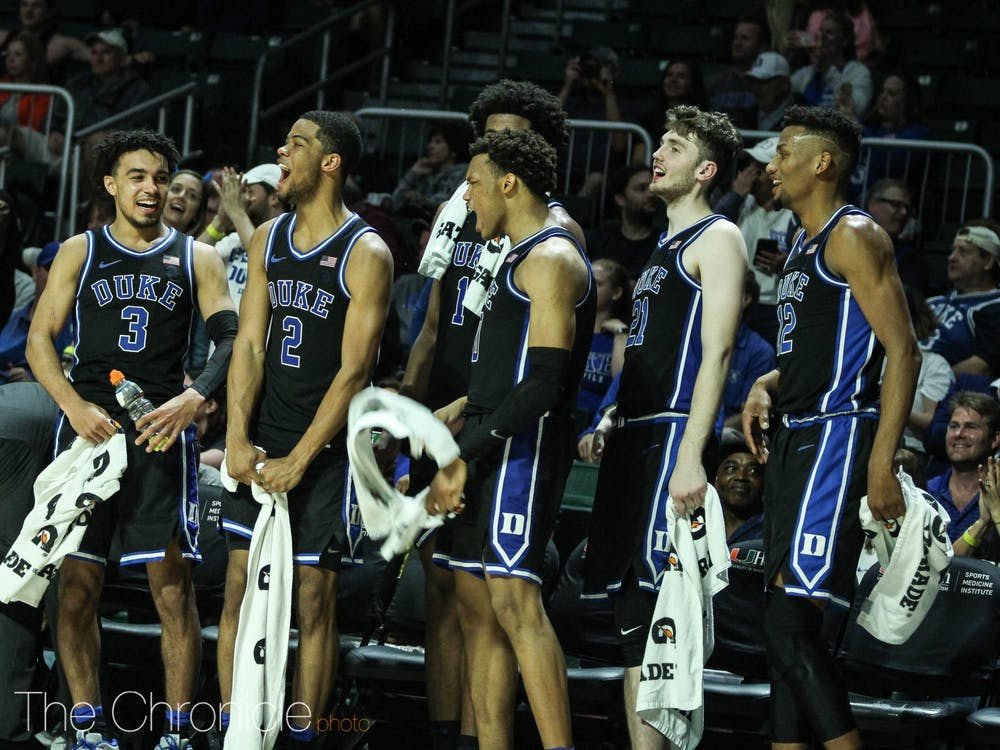 Duke utilized its whole rotation against Miami, with 11 different players scoring in the contest