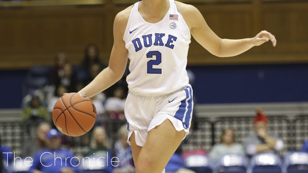 Haley Gorecki's 4-for-14 afternoon from the field contributed to an all-around poor shooting day for Duke.