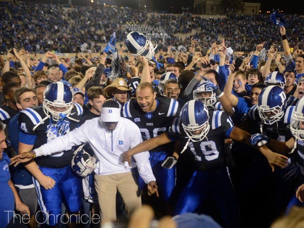 Duke football's last meaningful home win came in 2013.