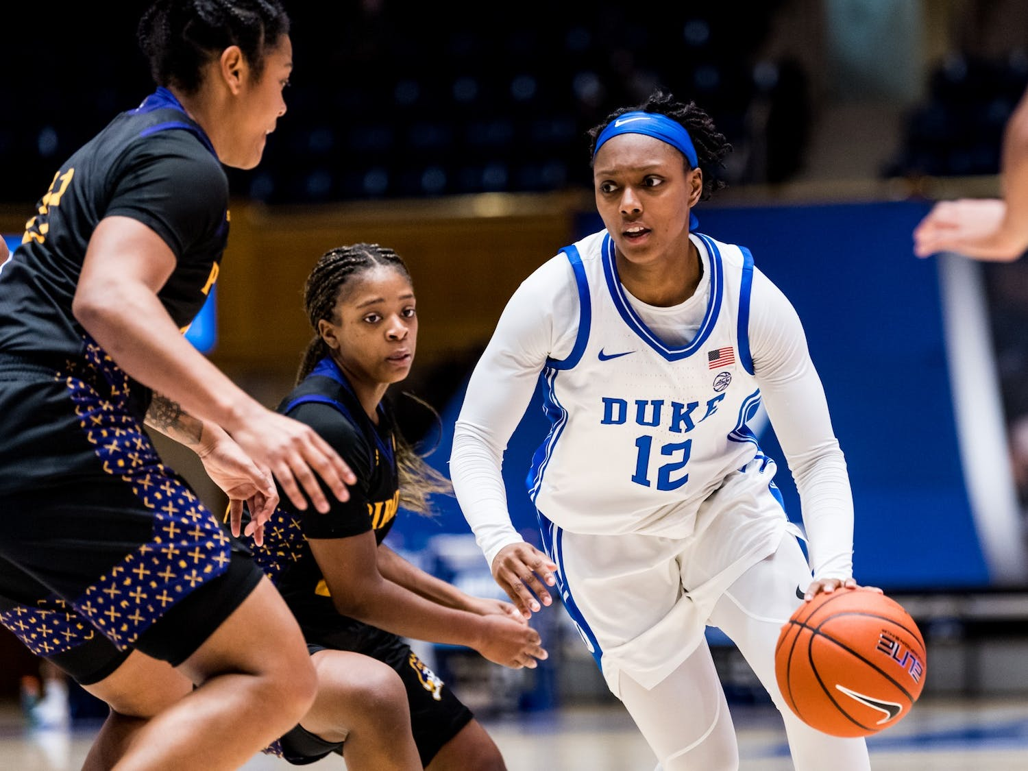 Senior point guard Mikayla Boykin was one of four Blue Devils to score in double digits Saturday against East Carolina.