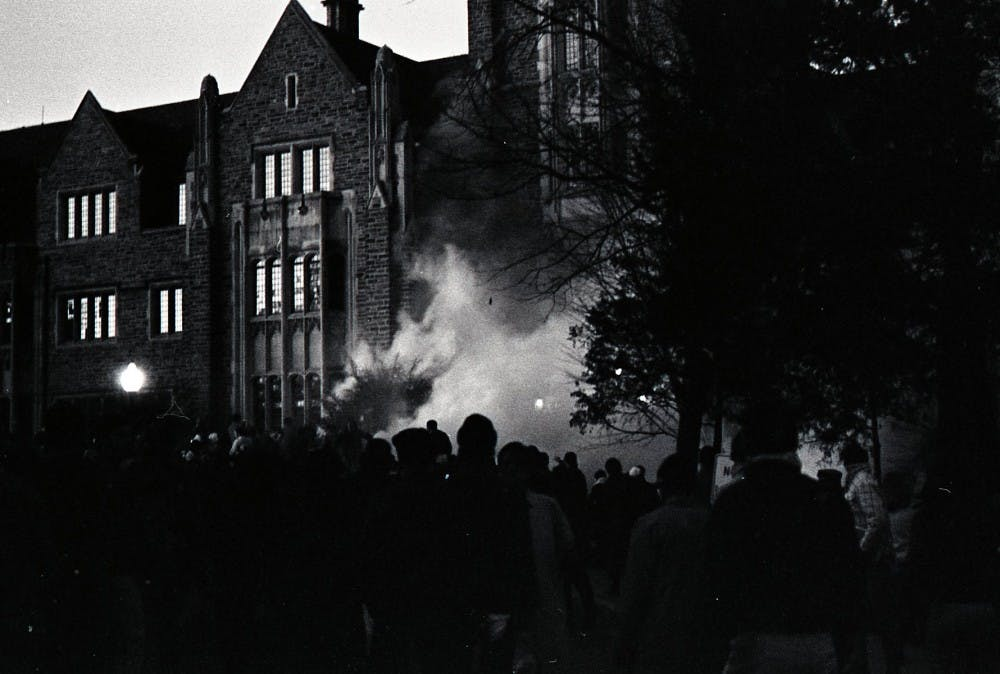 Allen Building Takeover | Courtesy of the Duke University Archives