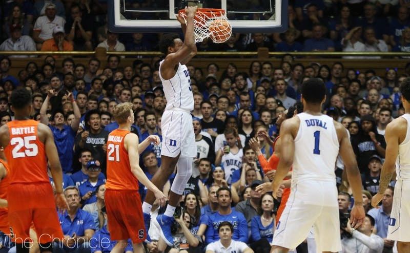 Carter showed no signs of being affected by the report, putting up 16 points and 10 rebounds against Syracuse Saturday.