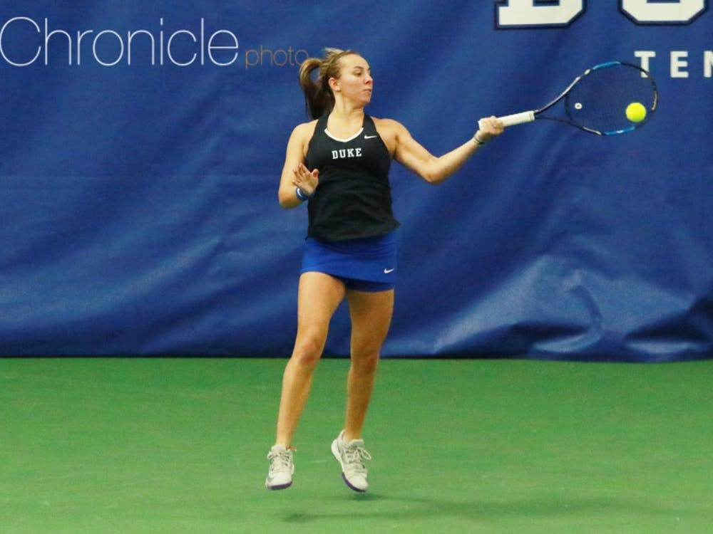 Rebecca Smaller pulled out a clutch win Sunday to give the Blue Devils a second straight win against Northwestern in the past week.