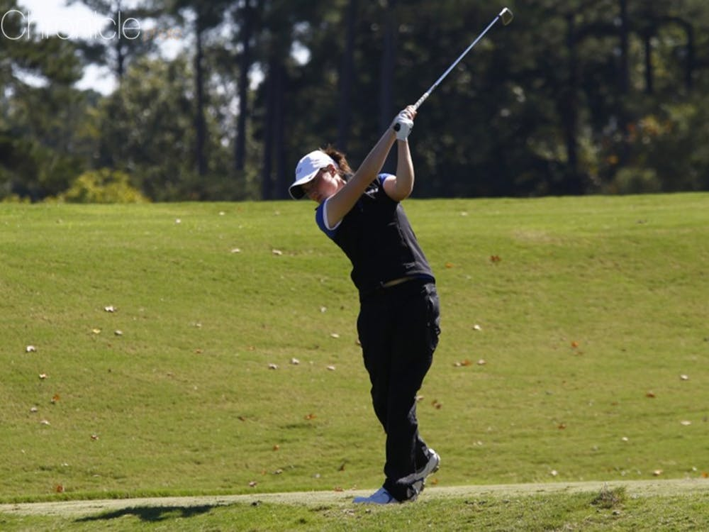 Junior Leona Maguire posted her second top-five finish of the year to spark the Blue Devils after an opening-round 66.