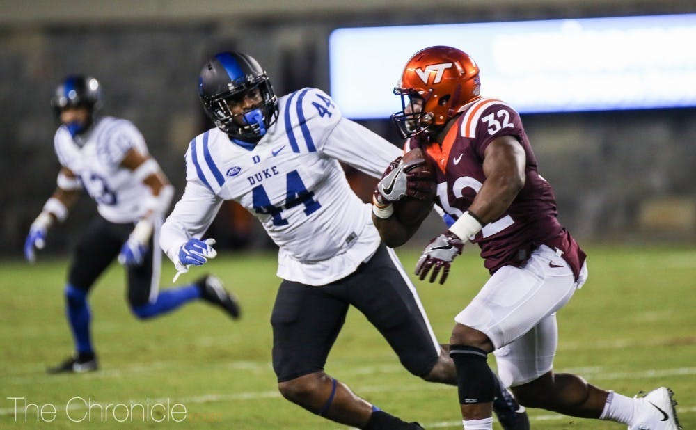 <p>Joe Giles-Harris is one of two former Blue Devils on the Jaguars 53-man roster, alongside Breon Borders.</p>