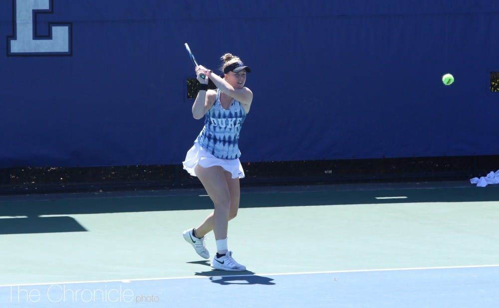 <p>Kaitlyn McCarthy clinched Duke's match against Virginia.</p>