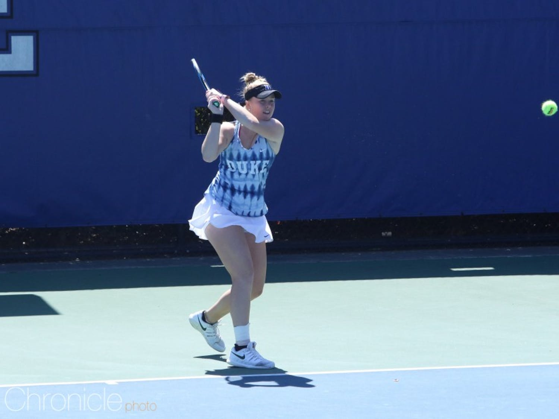 Kaitlyn McCarthy clinched Duke's match against Virginia.