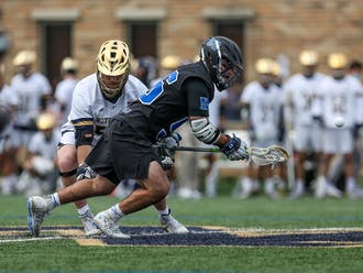 Freshman Jake Naso dominated the faceoff game yet again, but it wasn't enough for the Blue Devils.