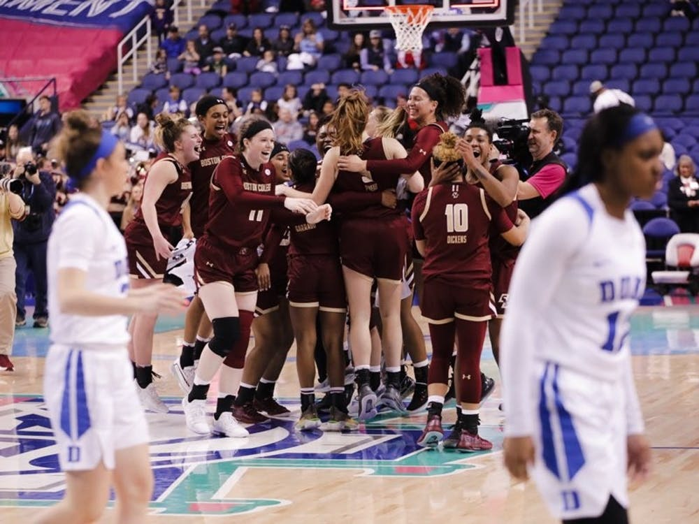 Boston College pulled off the upset Friday night, ending hopes of an ACC title for Duke.