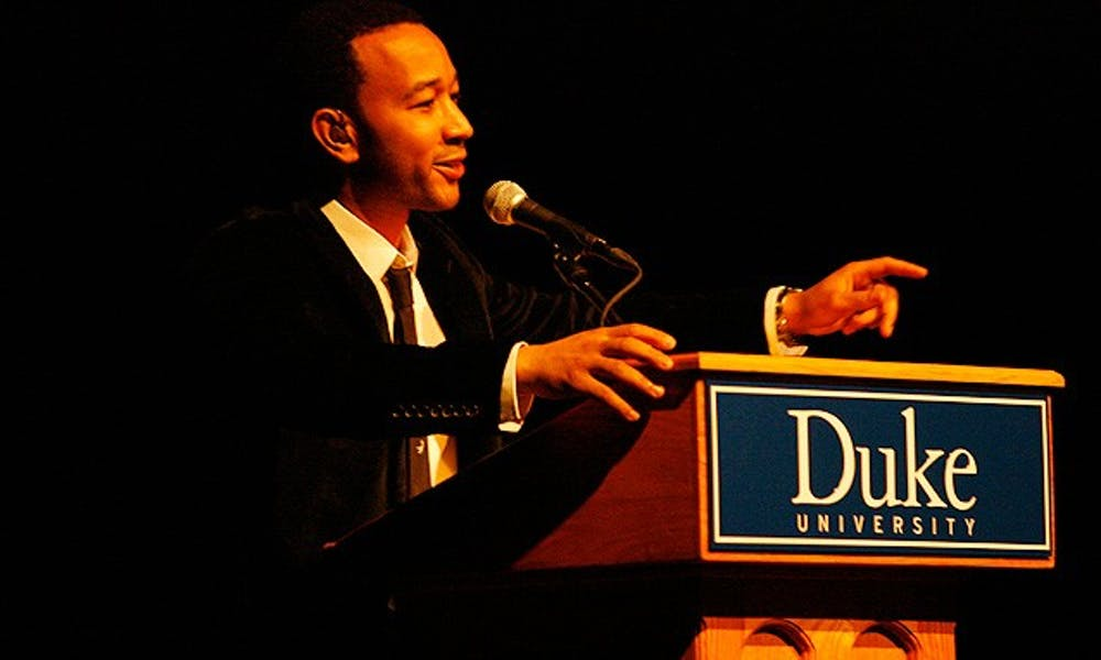 Grammy award-winning musician John Legend came to Page Auditorium Friday night to discuss his views on educational inequality and global poverty, which were inspired by the singer's trip to Africa.