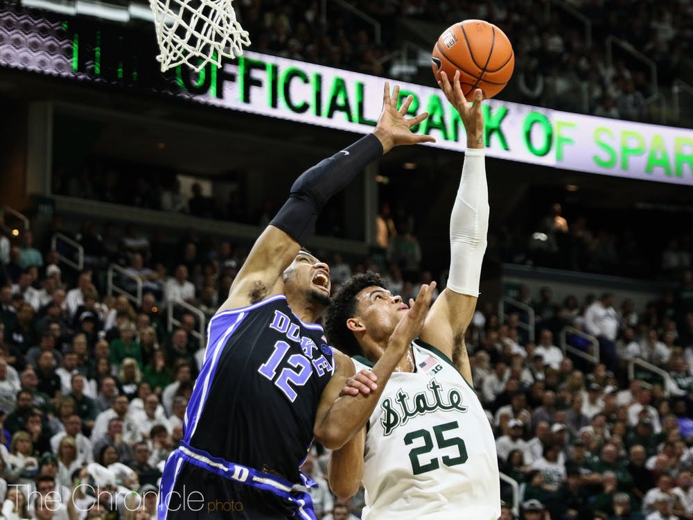 Javin DeLaurier played his best basketball of the season against Michigan State Tuesday.