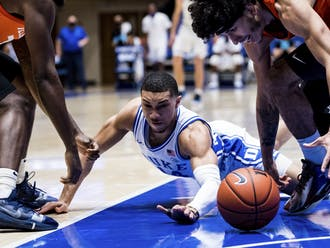 Jordan Goldwire's defensive effort was one of the few bright spots for Duke in the first half Wednesday.