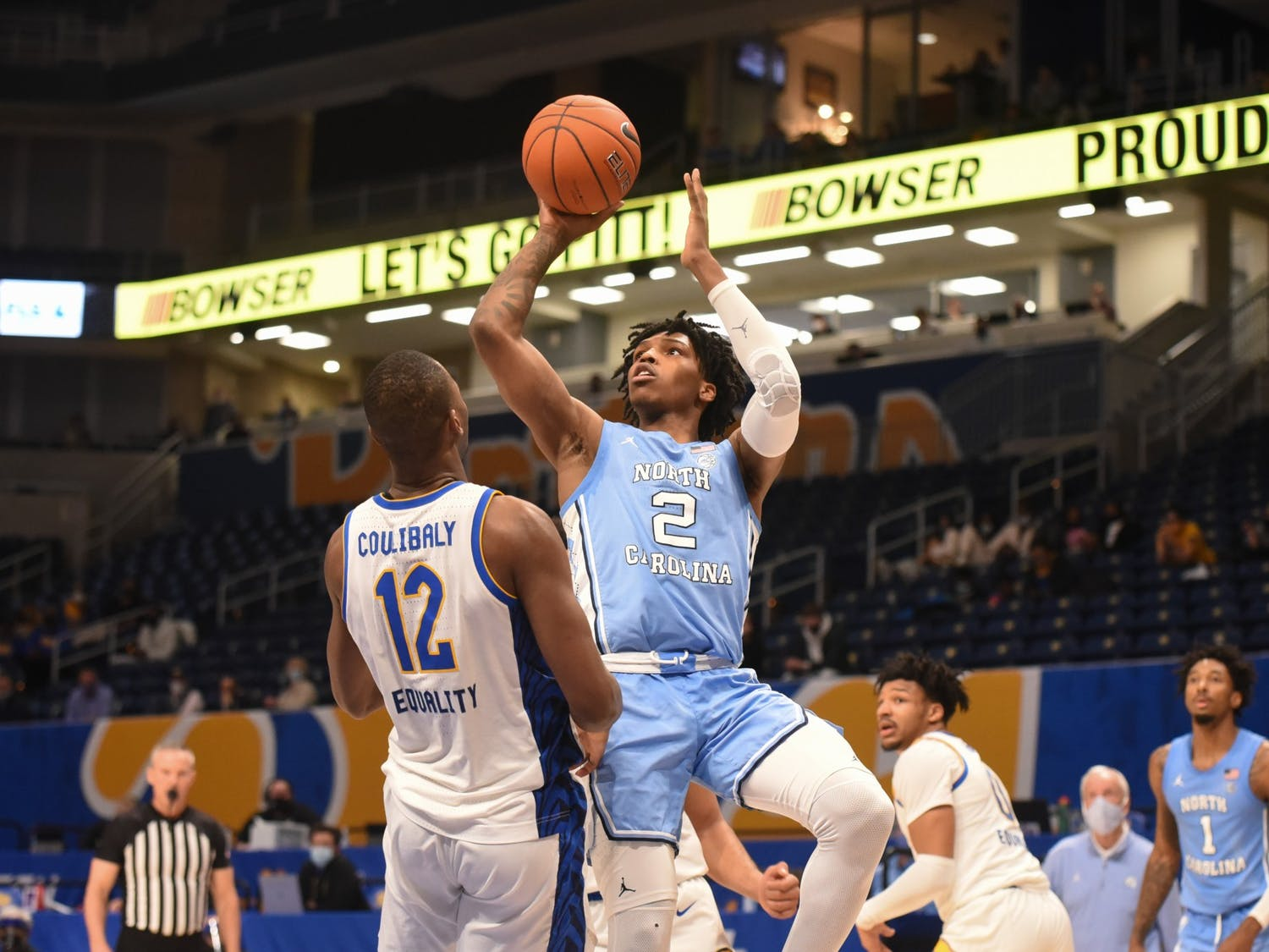 North Carolina freshman Caleb Love hasn't been able to translate his game to the college level very well so far.