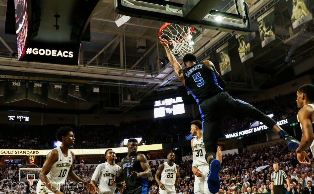 R.J. Barrett, clad in black, tried to make games into funerals for the opposing teams.