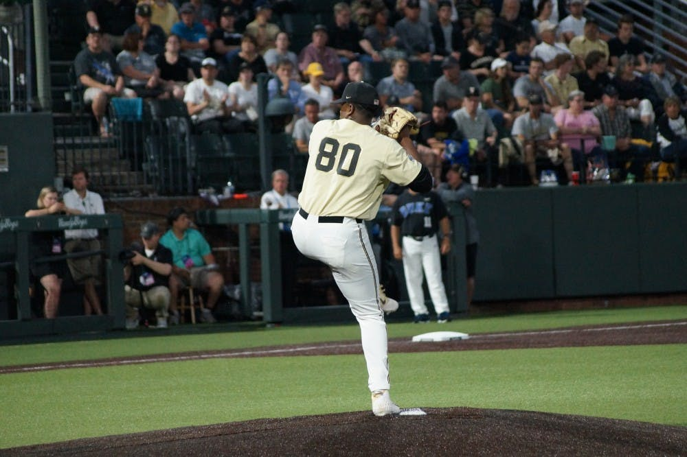<p>Kumar Rocker rocked and rolled over Duke's hitters all nights, striking out 19 and notching a no-hitter.</p>
