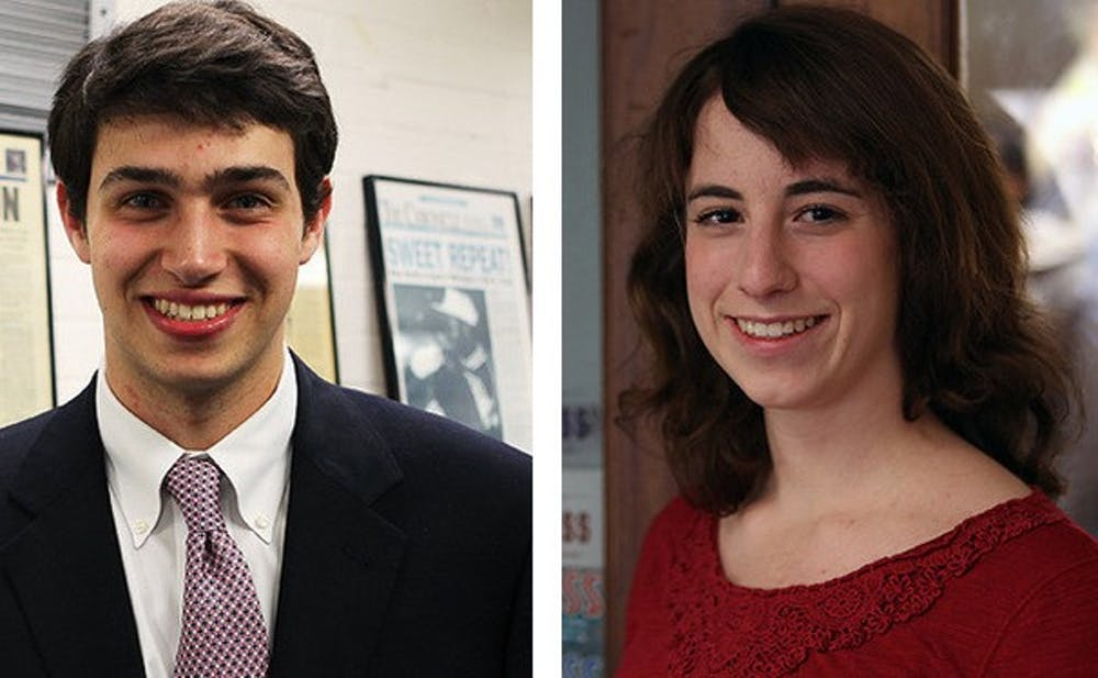 Daniel Carp (left) and Danielle Muoio (right) are Towerview's fearless leaders this year.