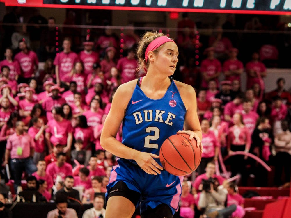 <p>Haley Gorecki's poise down the stretch lifted Duke to victory.</p>