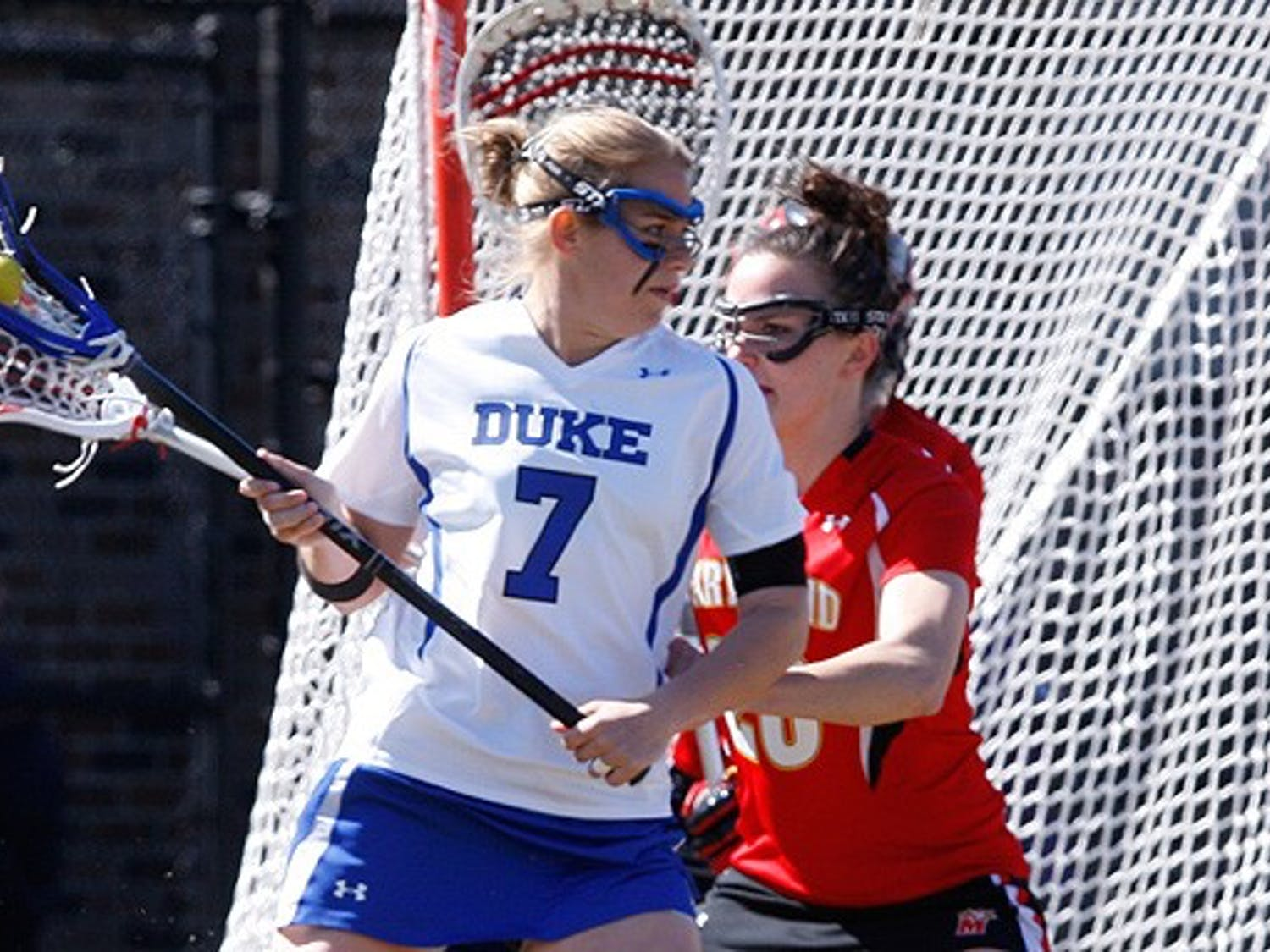 Junior Christie Kaestner could do nothing to help Duke's 14-4 loss to North Carolina. The Blue Devils next play Brown at home May 9.