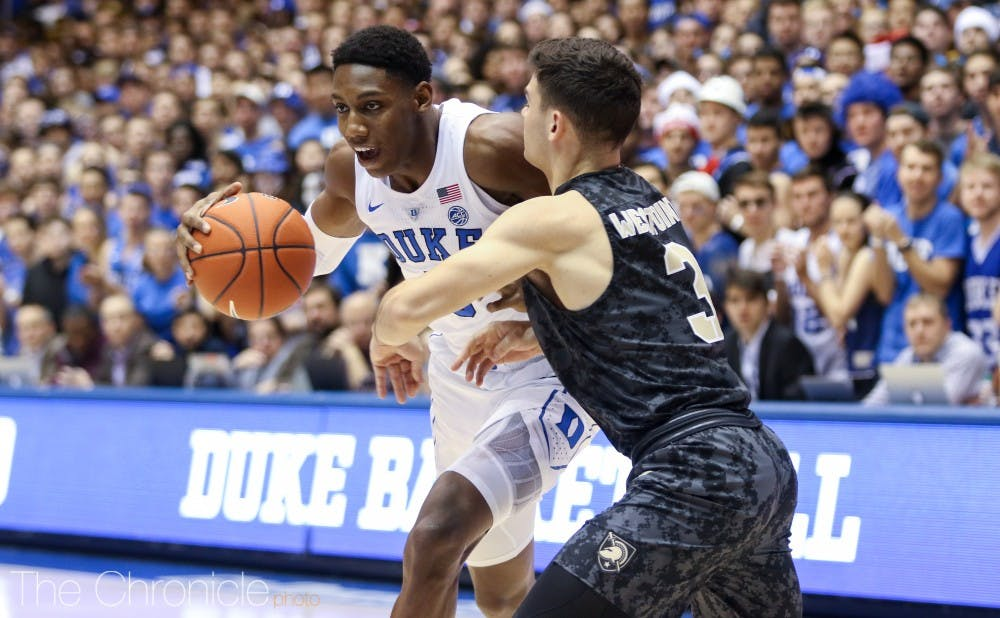 <p>Duke's closer-than-expected matchup against Army proved that the talented but young Blue Devils are not invincible.</p>