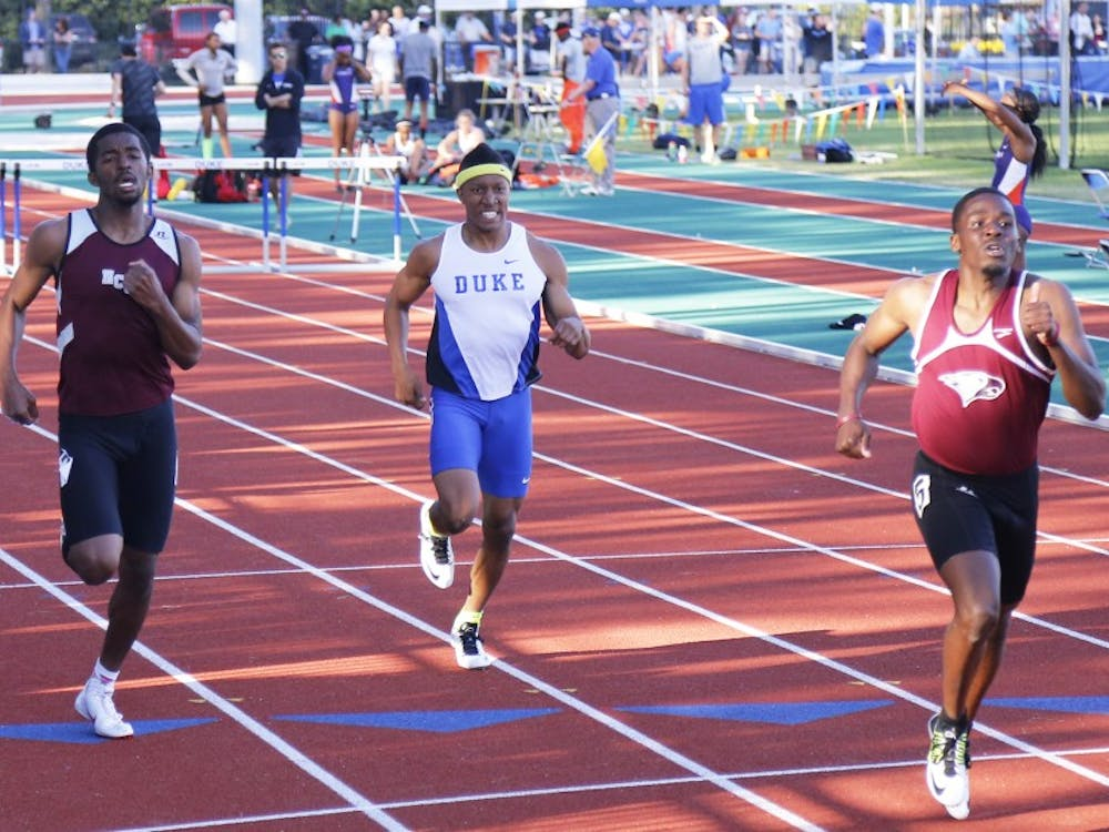 Chaz Hawkins and the Blue Devils will use this weekend's meet to set lineups for their next meet in New York.