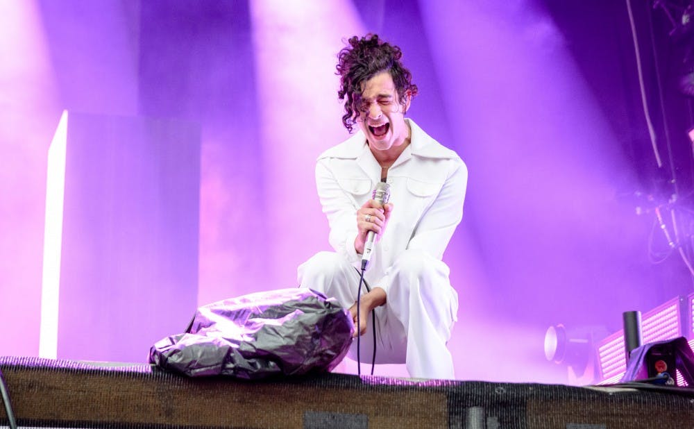 <p>The lead singer of The 1975, which recently released its third LP, performing in 2016.</p>