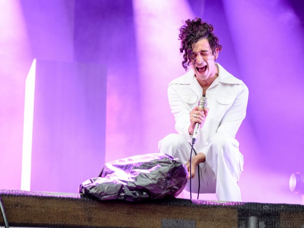 The lead singer of The 1975, which recently released its third LP, performing in 2016.