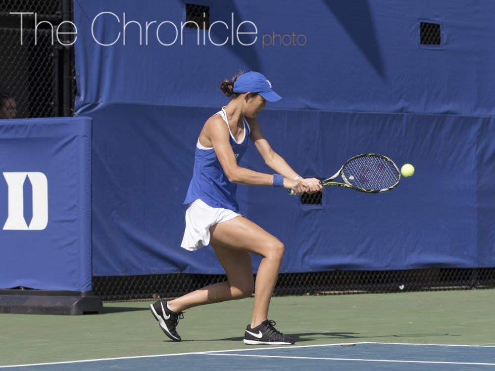 Despite failing to put her opponent away when she had a few chances Sunday, freshman Meible Chi sealed her team's seventh straight ACC victory.